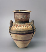 Collection: Rhythm - 5th, 6th Pictures<br><br>Lotus flower, detail from a large amphora of Bichrome IV ware, Cypro-Archaic period, 6th century B.C.