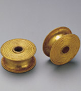 Collection: Toy - 2nd, 3rd Pictures<br><br>Detail from a pair of identical gold 'reels', Cypro-Archaic period, 6th century B.C.