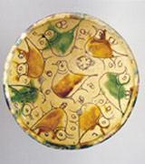 Collection: Flights - 1st Picture<br><br> Bird, detail from a bowl, brown and green sgraffito ware, Mediaeval period. 14th century.